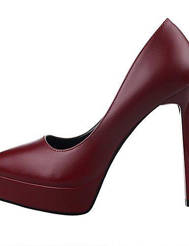 WSS 2016 Chaussures Femme-Extérieure / Bureau & Travail / Soirée & Evénement-Noir / Blanc / Gris / Bordeaux / Amande-Talon Aiguille-Talons / Bout almond-us7.5 / eu38 / uk5.5 / cn38
