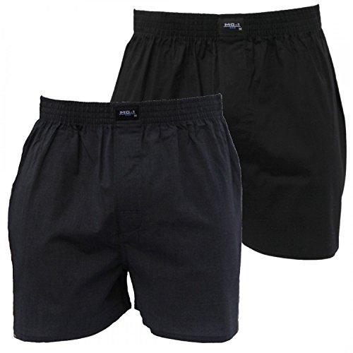 2 MG-1 Webboxer Basic Boxershorts Herren american Shorts Übergrössen M-6XL Farbwahl Set 2
