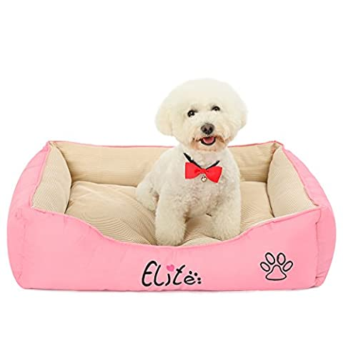 PAWZ Road Summer Cool Dog Cushion Bed Washable Pet Lounge Sofa Beds Ulter Soft Puppy Cat House With Anti-skid Bottom Pink