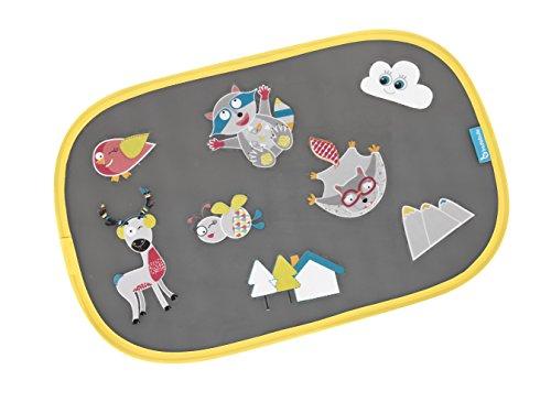 Preisvergleich Produktbild Badabulle B070000 Sonnenschutz für das Auto Bergtiere, 2-teilig, selbsthaftend, mit Sticker zum Selbstbekleben, mehrfarbig