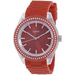 Esprit ES900692007 Unisex Watch Analogue Quartz Rubber Red