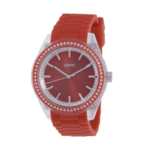 Esprit ES900692007 Unisex Watch Analogue Quartz Rubber Red