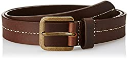 Allen Solly Mens Leather Belt (8907587052939_Medium_Dark Brown)