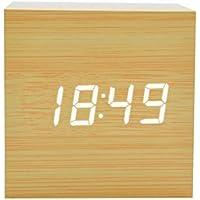 HOTSO Despertadores Digitales LED Control de Voz, Clásicos Reloj Despertador Electrónico Estilo Clásico de Mesillas