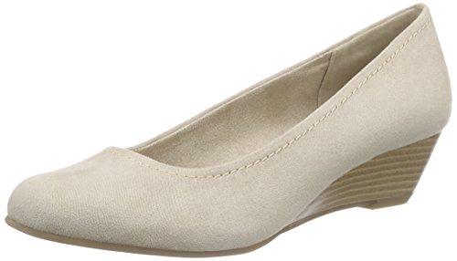 Marco Tozzi 22303, Chaussures à Talons-avant du Pieds Couvert Femme Beige - Beige (DUNE 405)