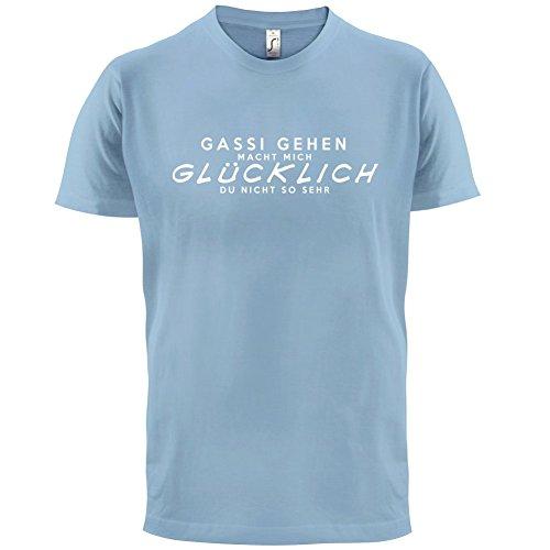 Gassi gehen macht mich glücklich - Herren T-Shirt - 13 Farben Himmelblau