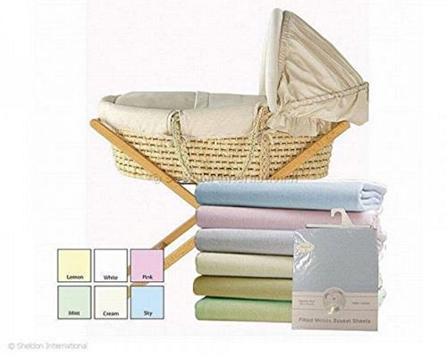 Pack de 2 Draps Housses Moses Basket SNUGGLE BABY Moses Basket EN ROSE - bw-111-230