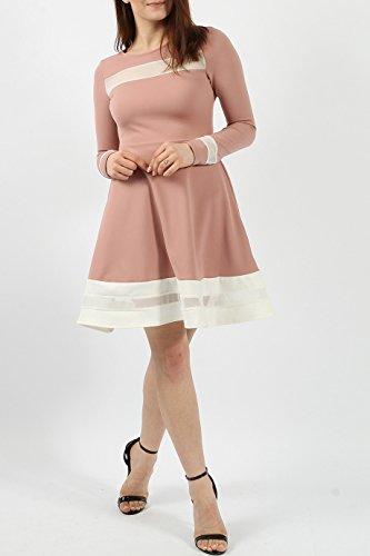 Robe de pataugeoire à manches longues à manches longues EUR Taille 36-44 Rose