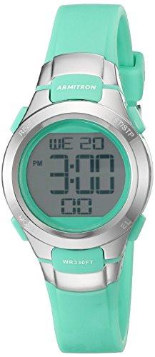 armitron-sport-damen-45-7012tel-digital-chronograph-blaugrun-kunstharz-armbanduhr