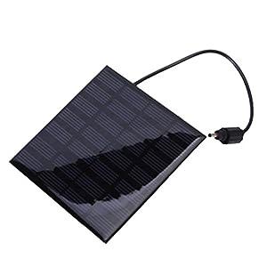 VicTsing Solar Pumpe für Garten-Brunnen Tauchpumpe mit Saugnäpfen und Solarpanel, quadratisch, 1,2W from VicTsing