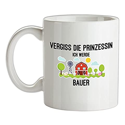 Vergiss die Prinzessin - Ich werde Bauer - Bedruckte Kaffee- und Teetasse