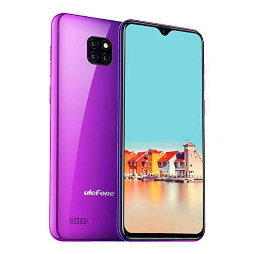 Ulefone Note 7 (2019) Smartphone Triple Kamera DREI Kartensteckplatz, 6,1 Zoll Display, 16 GB Speicher Dual SIM Android Handy Günstig, Face Unlock, 3500mAh - Twilight (Global Version)