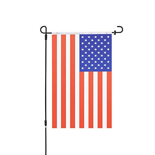 Stand - USA Vereinigte Staaten von Amerika Dekorative Gartenfahnen - für Independence Day - Perfektes Dekor für Outdoor-Hof Veranda Patio Bauernhaus Rasen ()