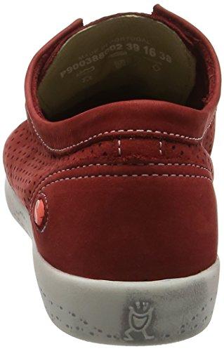 Softinos Ica388sof, Scarpe da Ginnastica Donna Rosso (Red)