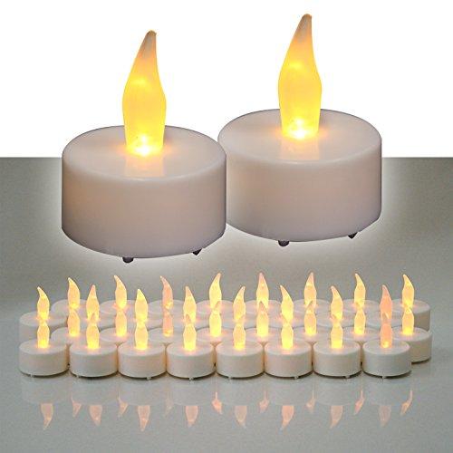 (32er) LED Teelichter Set elektrische Teelichter LED Kerzen Teelicht mit Batterie