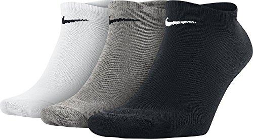 Nike Herren Socken Sport No Show, 3er Pack, Gr. 46-50, Mehrfarben (Multicolore - Noir/Blanc/Gris) (Nike Herren Kurze Socken)