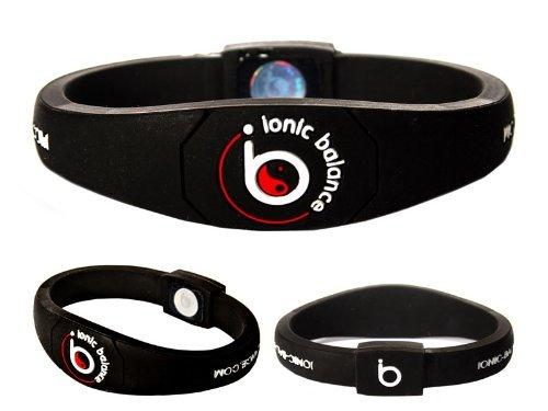 Ionic Balance - Pulsera de equilibrio, negro, Large - 20.5cm / 8.1in