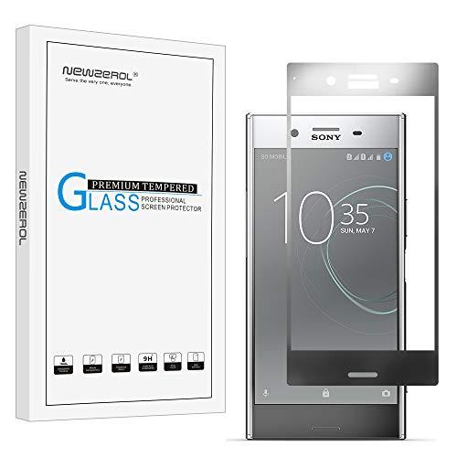 [2 Stück] Newzerol für Sony Xperia XZ Premium Dual /Sony Ahorn DS / Sony Ahorn SS / G8141 Panzerglas Schutzfolie (Vollständige Abdeckung),0.26mm 9H Härte Anti-Kratzen, Anti-Öl, Anti-Bläschen (grau)