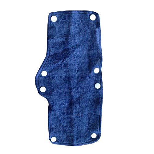 FiedFikt Schweißband Hard-Hut Schweißband Snap-Hard Hat Schweißband Beat The Heat Waschbare Frottee Baumwolle Hard Hat Liner, blau, Silber, 1 PC