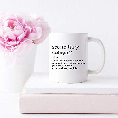Taza de regalo de secretario para el día del secretario, regalo de Navidad, secretario, taza de café, secretario, jubilación