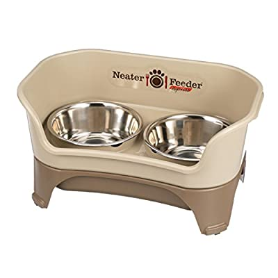 Neater Feeder Express with Stainless Steel, Drip Proof, No Tip and Non Slip Bowls and Mess Proof Pet Feeder by Neater Feeder