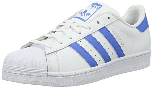 adidas Unisex-Erwachsene Superstar Low-Top, Weiß (Ftwr White/Ray Blue /Ray Blue), 36 EU