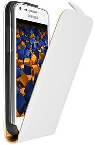 mumbi Leder Flip Case Samsung Galaxy Core Plus Tasche weiss (NICHT für Core Duos)