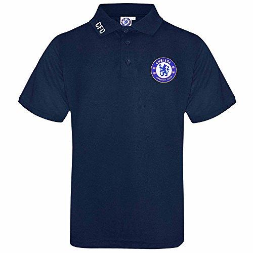 Erwachsenen-polo-shirt (Offizielles Chelsea FC, für Erwachsene, Polo-Shirt mit gesticktem Wappen, Herren, Slab Chelsea POLO10 Navy, Marineblau, S)