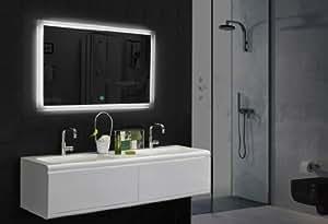 Miroir lED tOUCH interrupteur de lumière chaude/froide, 120 x 89 cm