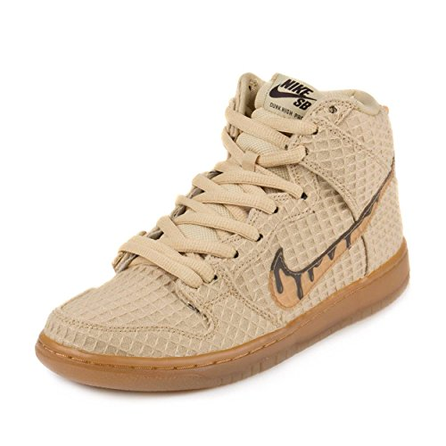 Nike Dunk High Premium SB, Zapatillas de Deporte para Hombre, Dorado (FLT Gold Star/Classic Brown), 39 EU