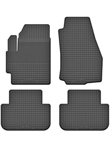 Premium Gummifußmatten mit 15mm Rand - Automatten Fußmatten geeignet für Ford Tourneo Connect II | X181-FX_DX-19 EIN Set