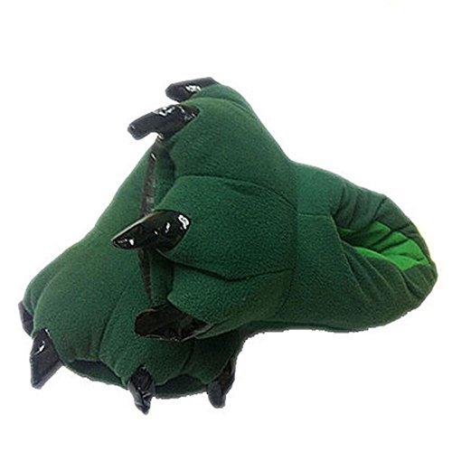 Cliont Unisex Super niedlichen weichen Monster Plüsch Tier Bademantel Indoor Haus Pantoffeln Cartoon Cosplay Pfote Claw Weihnachten Schuhe (Bademantel Und Hausschuhe Kostüm)