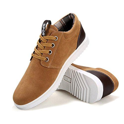 Scarpe da uomo, scarpe da ginnastica, per il tempo libero e traspirante, per tutte le stagioni Marrone (marrone)
