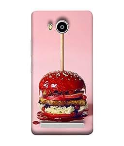 FUSON Designer Back Case Cover for Lenovo A7700 (Pizza Burger King Children Sword Cheese Big)