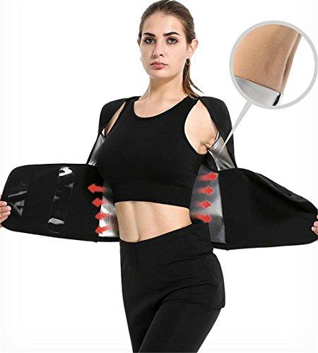 Guoyajf Sauna Anzug Laufen Yoga Kleidung Frauen Fitness, Sport Anzüge [Enthält Tops, Hosen] Laufen Abnehmen Sauna Anzug Für Gewicht Zu Verlieren Fat Burner Sweat,M
