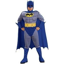 Disfraz de Batman musculoso para niño Tamaño Pequeño 3-4 años