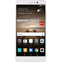 Huawei Mate 9 (20 MP + 12 MP Leica Dual-Kamera, 14,9 cm (5,9 Zoll), Kirin 960 Prozessor, mit HUAWEI SuperCharge, Android), silber