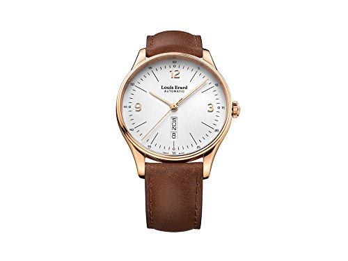 Louis Erard Héritage Classic Automatic Watch, PVD Rose Gold, White, Day/Date
