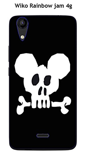 Coque TPU gel souple Wiko Rainbow Jam 4G design Mickey Skull