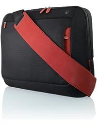 Belkin Messenger Bag Kuriertasche (Umhängetasche für Notebooks bis zu 43,2 cm (17 Zoll)) schwarz/rot