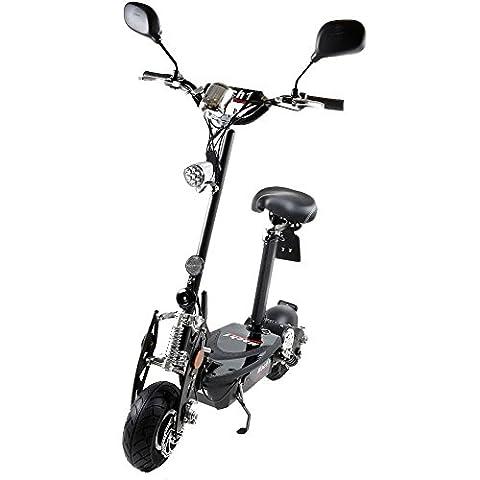 MACH1® Elektro E-Scooter mit EU Strassenzulassung 20Km/h Mofa Modell-2 EEC 36V/500W (Es besteht keine Helmpflicht für diesen Scooter) (1x 36V-16Ah Panasonic Akkus)