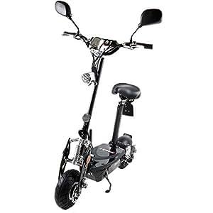 MACH1® Elektro E-Scooter mit EU Strassenzulassung 20Km/h Mofa Modell-2 EEC 36V/500W (Es besteht keine Helmpflicht für diesen Scooter) (1x 36V-12Ah Standard Akkus)