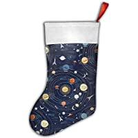 Gorgeous ornaments Supernova Solar System Navy Christmas Hanging Stocking,Assorted Santa Gift Socks Hanging Accessories For Xmas Tree Decoration Only Printed One Side