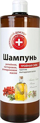 """Shampooing """"contre la chute des cheveux avec Velcro Huile, huile de ricin et Romarin 1 L"""