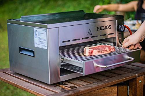 Meateor 800 Grad Oberhitzegrill Helios Gasgrill Hochleistungsgrill Aus Edelstahl Inkl. Grillrost Und Gastroschale