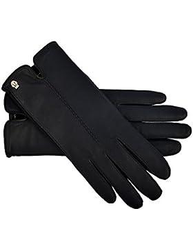 Roeckl Handschuhe Leder + Spandex in Blau