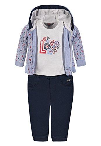 Kanz Mädchen Bekleidungsset Sweatjacke m. Kapuze 1/1 T-Shirt 1/4 Arm + Hose 1832006, Mehrfarbig (Allover 0003), 86