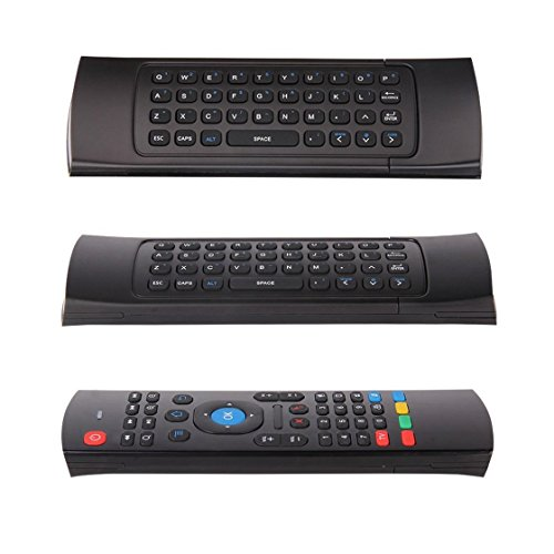 Laurelmartina 1 Set 2.4G Mini Wireless Remote Control Full Keyboard & TV Remote Mouse with USB Receiver For Android TV Box Mini PC