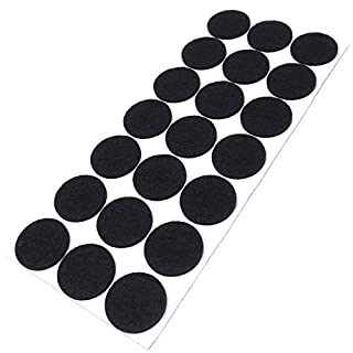 Adsamm® | 21 x Filzgleiter | Ø 30 mm | Schwarz | rund | 3.5 mm starke selbstklebende Filz-Möbelgleiter in Top-Qualität