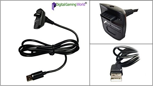 Digital Gaming World® 2 in 1 Charging and Connecting Cable for Xbox 360 Wireless Controller (Not Suitable For Xbox One/PC/Laptop/TV Or Any Other)